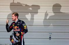 Red Bull: Sebastian Vettel held off team-mate Mark Webber to win in Japan