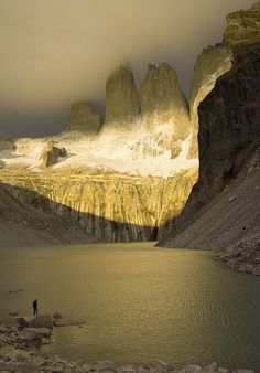 Light and Shadow in Torres Del Paine National Park, Chile the end of the world, the best place to make love Parc National Torres Del Paine, Places To Travel, Places To See, Places Around The World, Around The Worlds, Beautiful World, Beautiful Places, Amazing Places, Beautiful Landscapes
