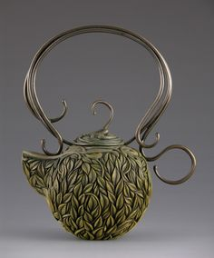 Beautiful teapot sculpture by Jacques Vesery