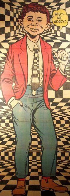 """What...Me, Worry?"" Mad Magazine, 1965.  My brother's subversive pleasure.  It was fun :))"