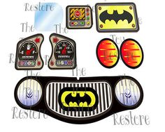 New Replacement Decals Stickers for Vtg Little Tikes Tykes Cozy Coupe Batman 90s #LittleTikes