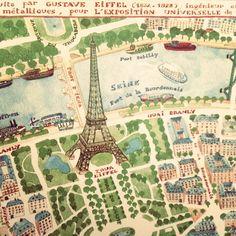 Paris map.