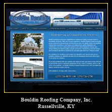 My Web Design Clients: Bouldin Roofing Company, Inc. Russellville, Kentucky.