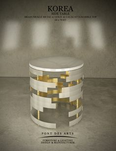 Korea-I- Acrylic Furniture, Table Furniture, Brass Side Table, Side Tables, Chinese Table, 3d Max, Decorating Coffee Tables, Table Decorations, Welding