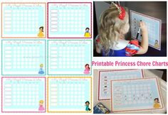 Want to know a sure fire way of getting little girls excited about helping out around the house? Make them a princess chore chart. Boom. My little princesses flipped over these and they love that t...