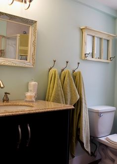 Need hooks like this for our horrible bathroom layout.