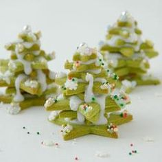 Christmas tree matcha cookie