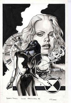 Black Widow (1999 Series) #1 Comic Art
