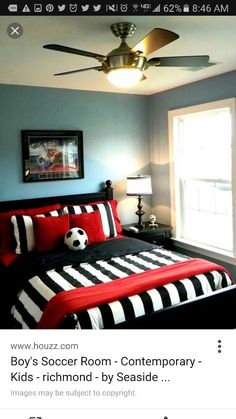 Es Soccer Themed Room Design Pictures Remodel Decor And Ideas Page 5 Nice For Our Boy