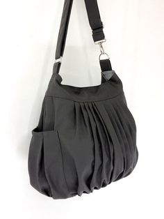 Handbags Cotton bag Canvas Bag Diaper bag Shoulder bag Hobo bag Handbags Tote Messenger Purse Everyday bag - Dark Gray - Rita by VeradaBags on Etsy https://www.etsy.com/listing/150312933/handbags-cotton-bag-canvas-bag-diaper