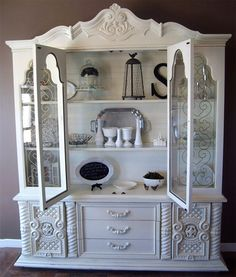 Refurbished Hutch; again, love the style and accessories.  Cannot wait to actually have our own place to decorate...I type as I lie in the bed I've had since high school...in my parents house ;)
