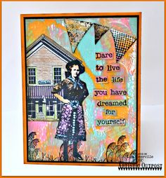 Designs by Lisa Somerville: Live the life you have Dreamed - Artistic Outpost July Blog Hop