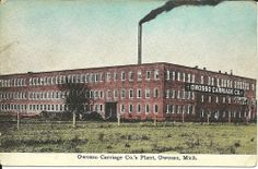 Vintage Postcard Photo Owosso Carriage Company Plant in Owosso Michigan