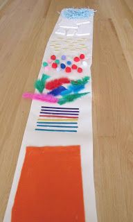 School Time Snippets: Follow the Texture Road. I love this idea as a sensory activity for toddlers. What fun to experience the different textures underneath bare feet!