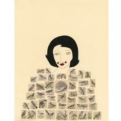 Art Print  She Spoke With the Birds by ValerieGalloway on Etsy, $25.00