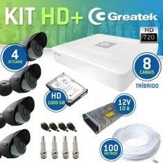 Kit AHD Greatek 8 canais + 4 Câmeras JetCam 720P - Speedtech Informática, Segurança e Tecnologia