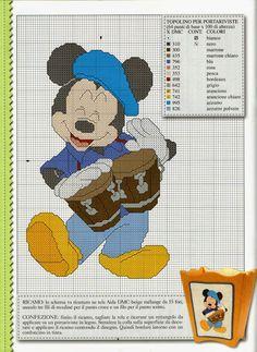 ♥Meus Gráficos De Ponto Cruz♥: Disney: Turma do Mickey em Ritmo de Jazz (Ponto Cruz)