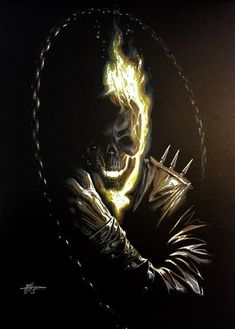 Ghost Rider by Gabriele Dell'OttoYou can find Ghost rider and more on our website.Ghost Rider by Gabriele Dell'Otto Ghost Rider Johnny Blaze, Ghost Rider Marvel, Ghost Rider Wallpaper, Marvel Wallpaper, Skull Wallpaper, Marvel Comics Art, Marvel Heroes, Ms Marvel, Comic Art