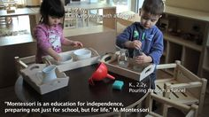 Montessori in action - 1-2.5 years of age classroom
