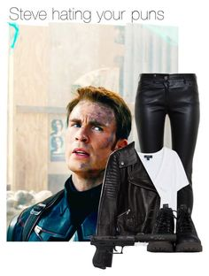 """""""Steve hating your puns"""" by thatweirdgirlkris ❤ liked on Polyvore"""
