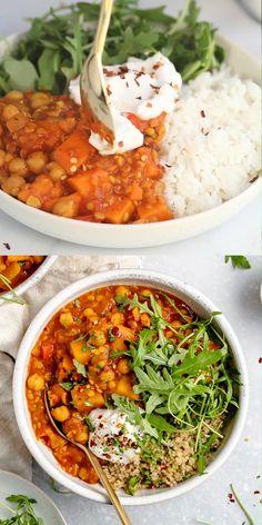Vegetarian Stew, Vegetarian Recipes Dinner, Vegan Dinners, Indian Food Vegetarian, Vegan Stew, Slow Cooker Recipe Videos, Slow Cooker Recipes, Cooking Recipes, Easy Healthy Vegetarian Recipes