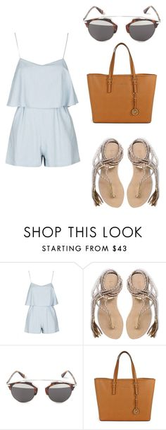 """""""Untitled #41"""" by isabellavictoria7 ❤ liked on Polyvore featuring Topshop, L*Space, Christian Dior and Michael Kors"""