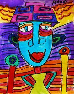 Hundertwasser Portraits - grade 1