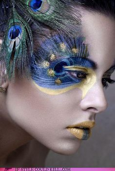 found another peacock makeup idea!