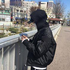 @dei8ht | #korean #men #boy #jacket #black #grunge #fashion