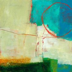 Green And Red 7 Print By Jane Davies
