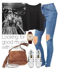 """Looking for good music with Harry."" by welove1 ❤ liked on Polyvore featuring ASOS, adidas Originals, Chanel, Tiffany & Co. and Rolex"