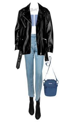 """""""Untitled #287"""" by danielime ❤ liked on Polyvore featuring Alexander Wang, CF. Goldman and Vetements"""