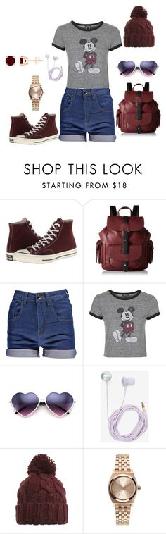 """summer school"" by isabelleromain on Polyvore featuring Converse, Kenneth Cole Reaction, Topshop, Bando, Miss Selfridge, Nixon, women's clothing, women's fashion, women and female"