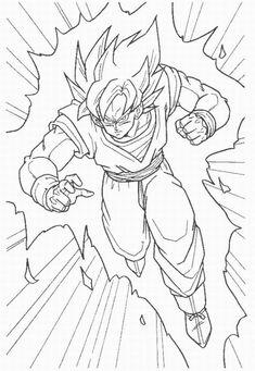 how to draw goku super saiyan   How To Draw Dragon Ball Z Goku Super Saiyan 2