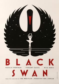 "Black Swan (2010) Vintage Swiss Movie Poster - 16.5"" x 23.25"""