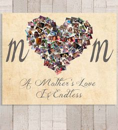 Mom Canvas, Mother's Day Gift, Personalized Photo Collage, Mom Birthday Gift, Mothers Day, Gift for Mum