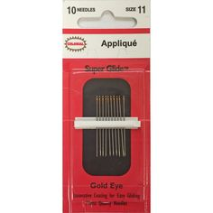 This needle has a very easy-to-thread eye which, I think, is its finest attribute. It's called 'Super Glide' and it does indeed move smoothly through the fab...