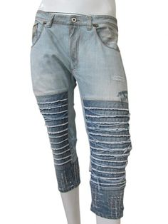 Frayed Jeans Pedal Pucher 100% Cotton by Vic-Torian - Clothing Men Jeans On Sale price EUR 138.00