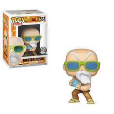 Funko Pop Master Roshi Max Power Dragon Ball Super 533 Specialty Series 2018 for sale online Pop Vinyl Figures, Funko Pop Figures, Funko Pop Toys, Figurines Funko Pop, Madrid Barcelona, Majin Boo, Galactic Toys, Animated Dragon, Power Pop