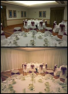 Wall draping for wedding receptions