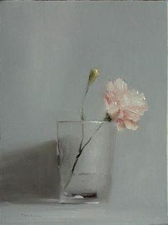 Neil-Carroll-Original-Oil-Painting-Realism-Impressionism-Still-Life-Carnation