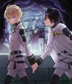 Mika and Yuu | Owari no Seraph
