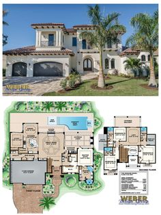 G2-3881 - Bonaire - two-story waterfront house plan with 3,881 square feet of living area.  4 bedrooms, 4 full baths, 1 half-bath, 3 car garage. More waterfront house plans https://www.weberdesigngroup.com/home-plans/style/waterfront-house-plans/
