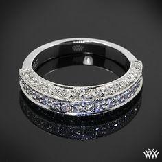 Three Side Pave Diamond Wedding Ring