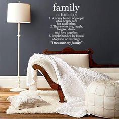 Family Wall Vinyl – White from The Clearance Sale - R99 (Save 82%)