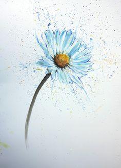 watercolour daisy tattoo - Google Search