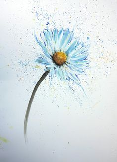 watercolour daisy tattoo - Google Search