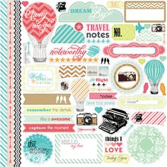 Echo Park - Everyday Eclectic Collection - 12 x 12 Cardstock Stickers - Elements at Scrapbook.com