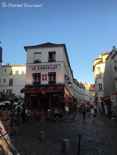 Montmartre, Paris.  The other side of Paris.