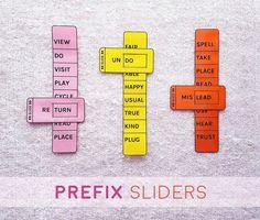 Prefix-spelling-learning-aid